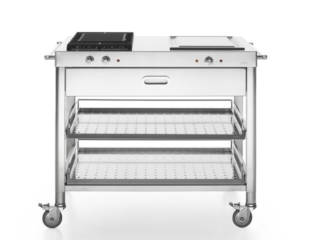 Gas Electric outdoor kitchen with Grill CUCINA OUTDOOR 100 – GRILL E TEPPANYAKI | Outdoor kitchen - ALPES-INOX