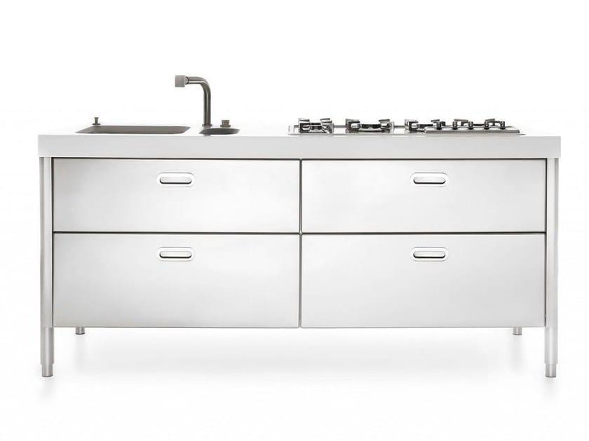Cucine 190 cucina in acciaio inox by alpes inox - Maniglie cucina acciaio ...
