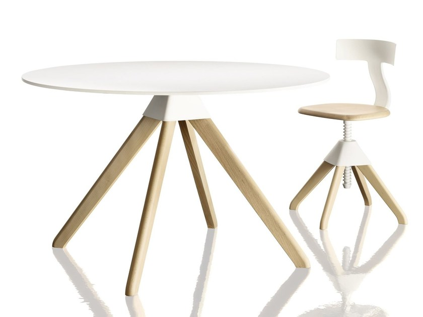Round beech table CUCKOO - Magis