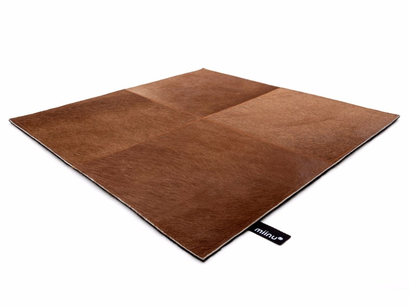 Leather rug CUERO 20 by miinu