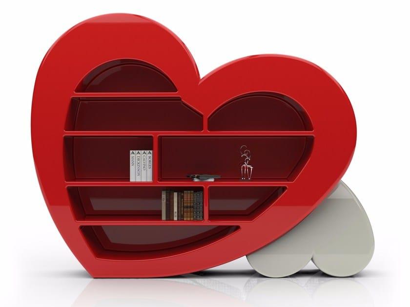 Freestanding Adamantx® bookcase CUORE by ZAD ITALY
