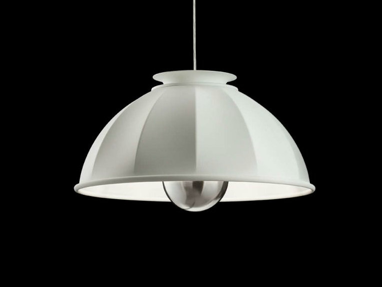 Direct light aluminium pendant lamp CUPOLA - Fortuny® by Venetia Studium