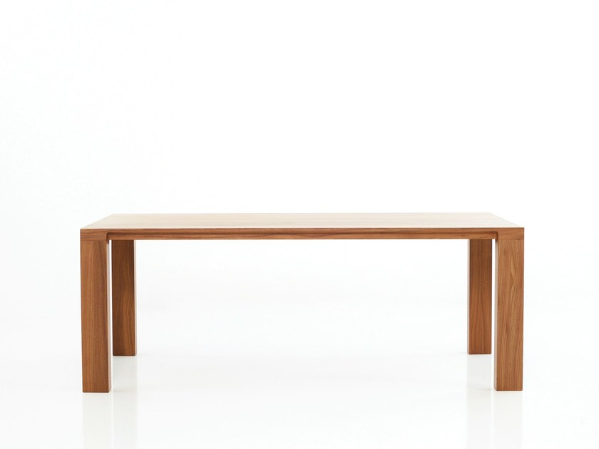Extending rectangular dining table CURVE   Extending table by more