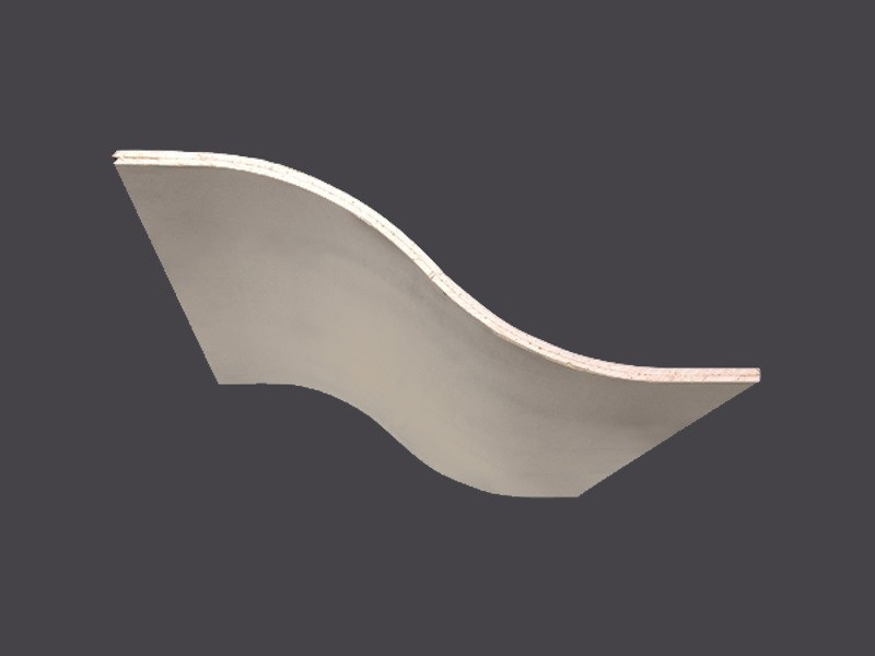 """Double-curved profiles in plasterboard CURVOGIPS """"S"""" GROOVE 2.00 ML by Gyps"""