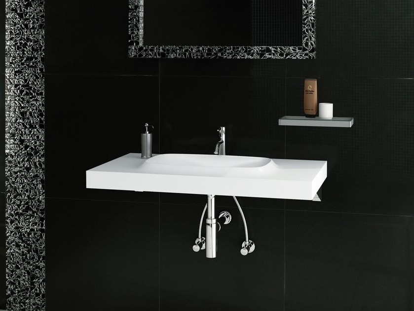 Rectangular single washbasin CURVY - Sanwa Company