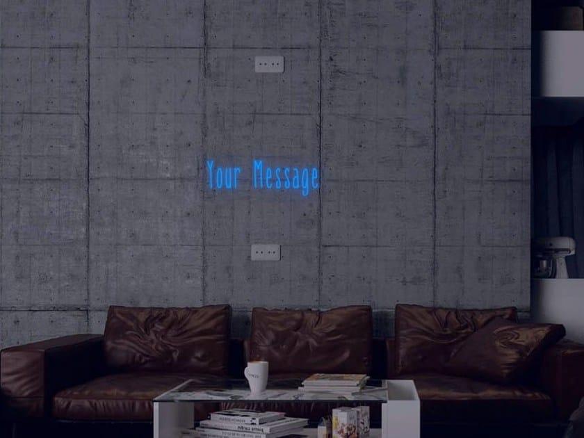 Lettera luminosa da parete al neon CUSTOMISE - Sygns