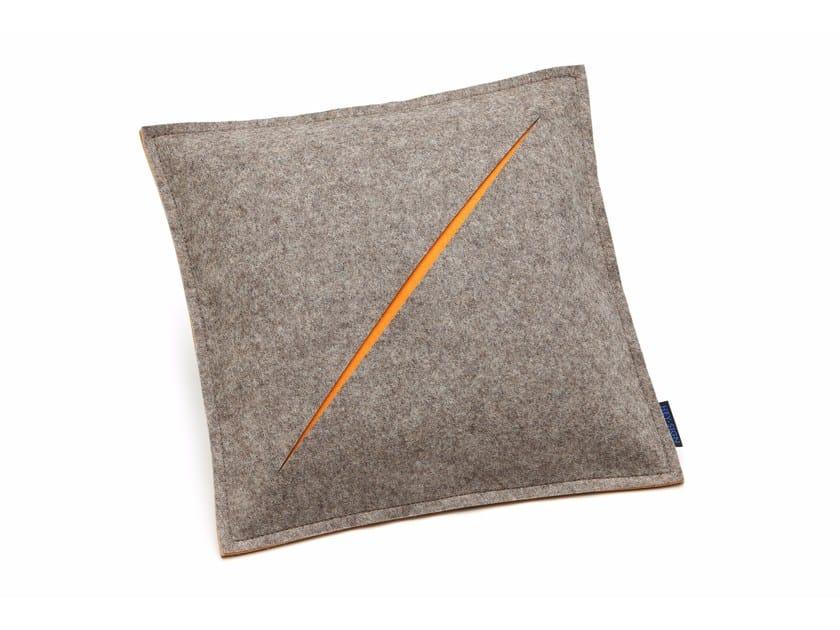 Square felt cushion CUT | Cushion by HEY-SIGN