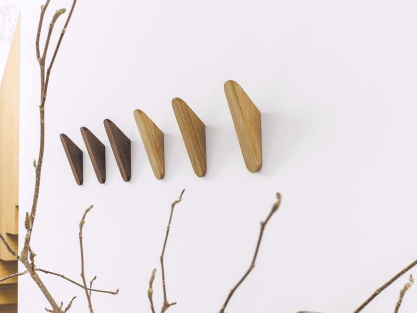 Wall-mounted solid wood coat rack CUT | Wall-mounted coat rack - Schönbuch