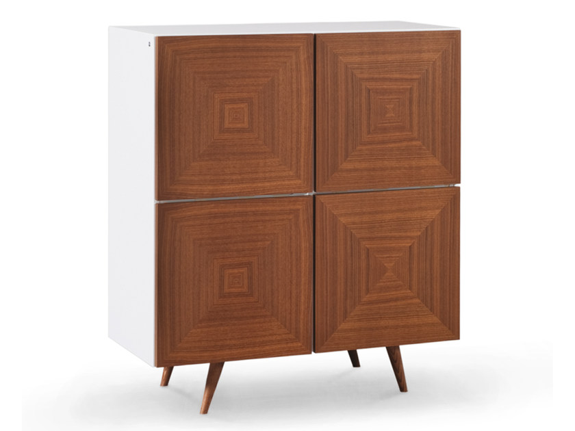 Lacquered walnut highboard with doors CITY | Highboard - Oliver B.