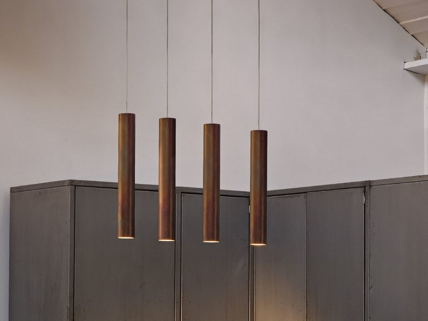 LED metal pendant lamp CYLINDER | Pendant lamp - Olev by CLM Illuminazione