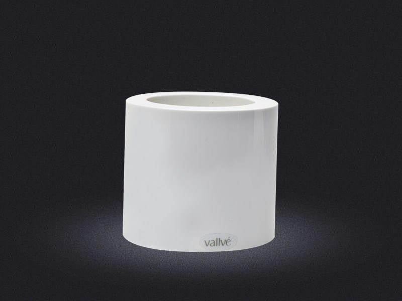 Resin storage box CYLINDRIC POT - Vallvé Bathroom Boutique