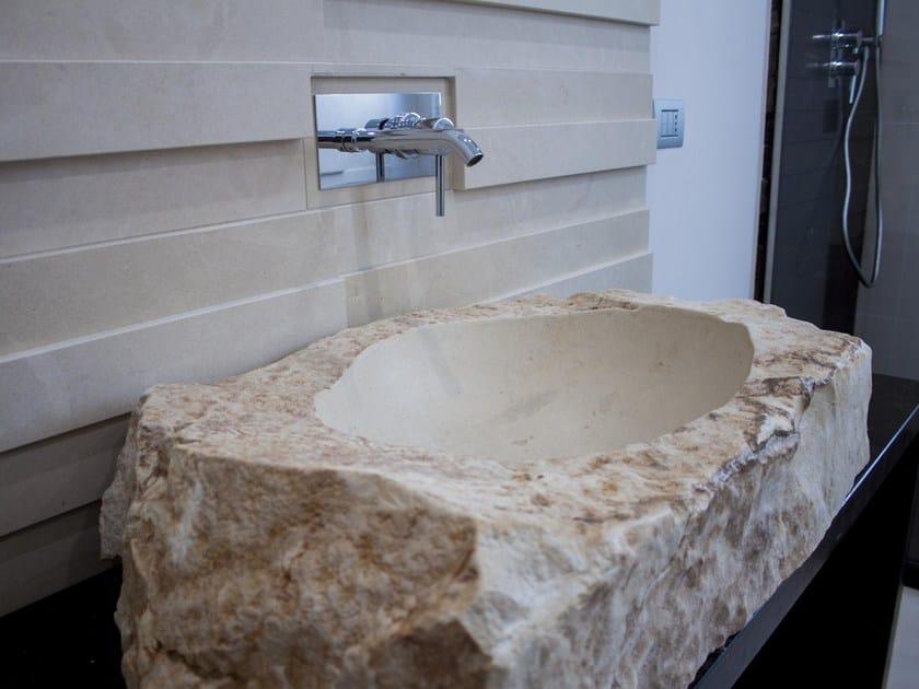 Lavabo da appoggio ovale singolo in pietra Lavabo in pietra ...