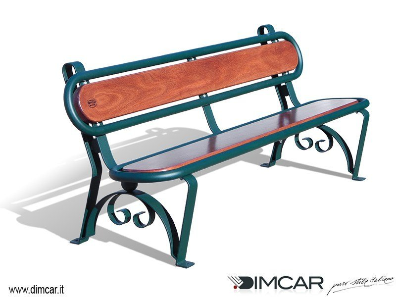 Wooden Bench with back Panchina Carinzia by DIMCAR