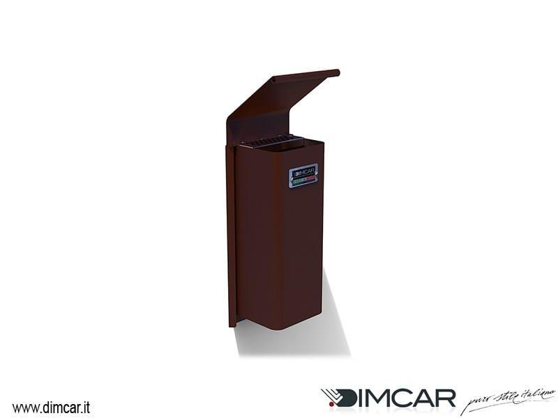 Steel ashtray Cenerino con coperchio e attacco a muro - DIMCAR