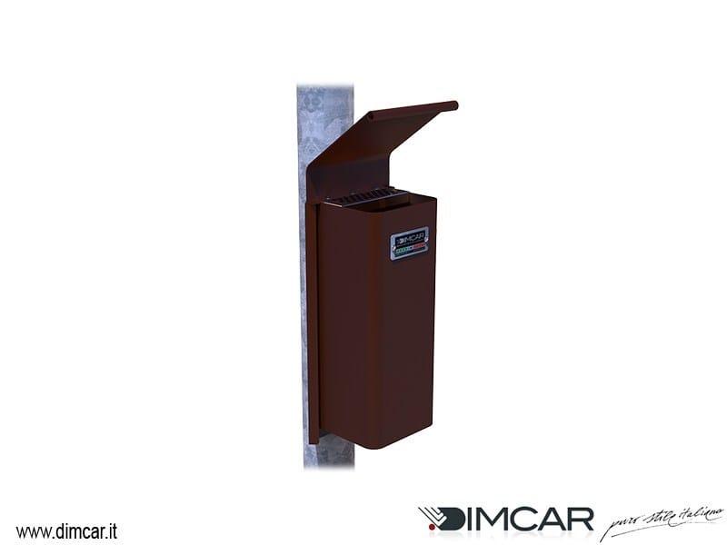 Steel ashtray Cenerino con coperchio e attacco su palo - DIMCAR
