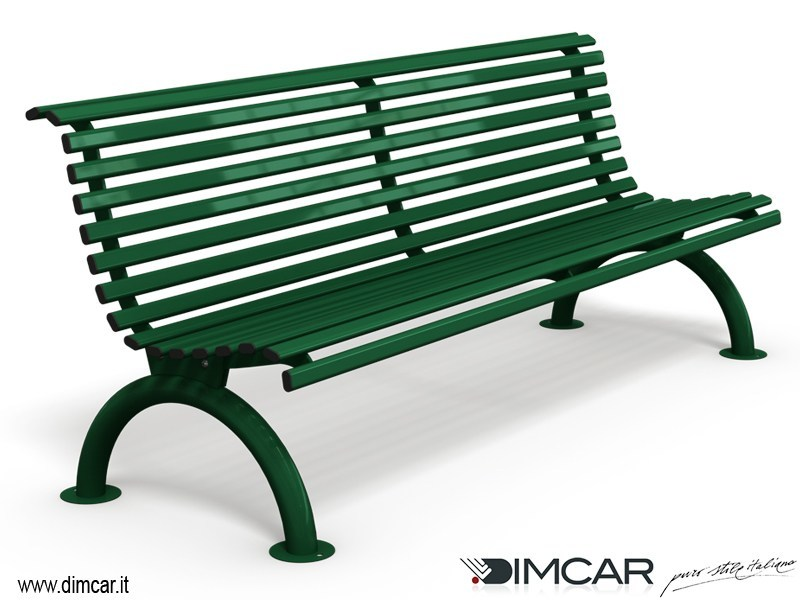 Galvanized steel Bench with back Panchina Cervino - DIMCAR