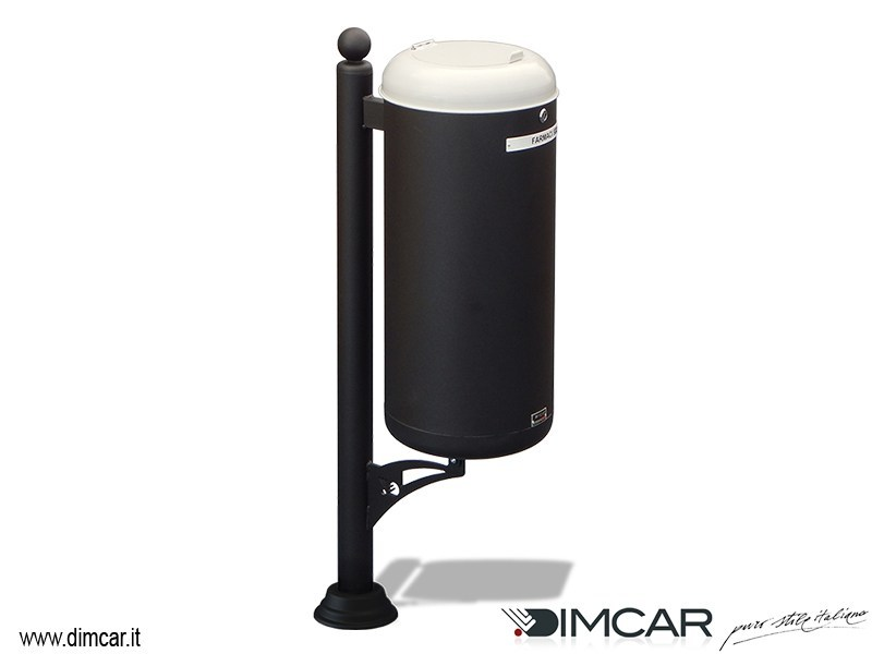 Waste bin with lid for waste sorting Cestino Ecocity per raccolta farmaci by DIMCAR
