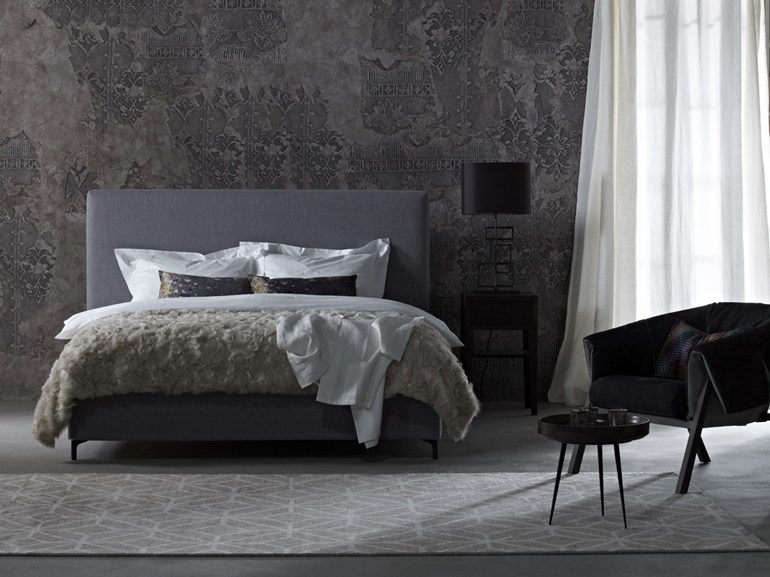 Double bed with removable cover with upholstered headboard Gala 28-S + CHANGE - Schramm Werkstätten