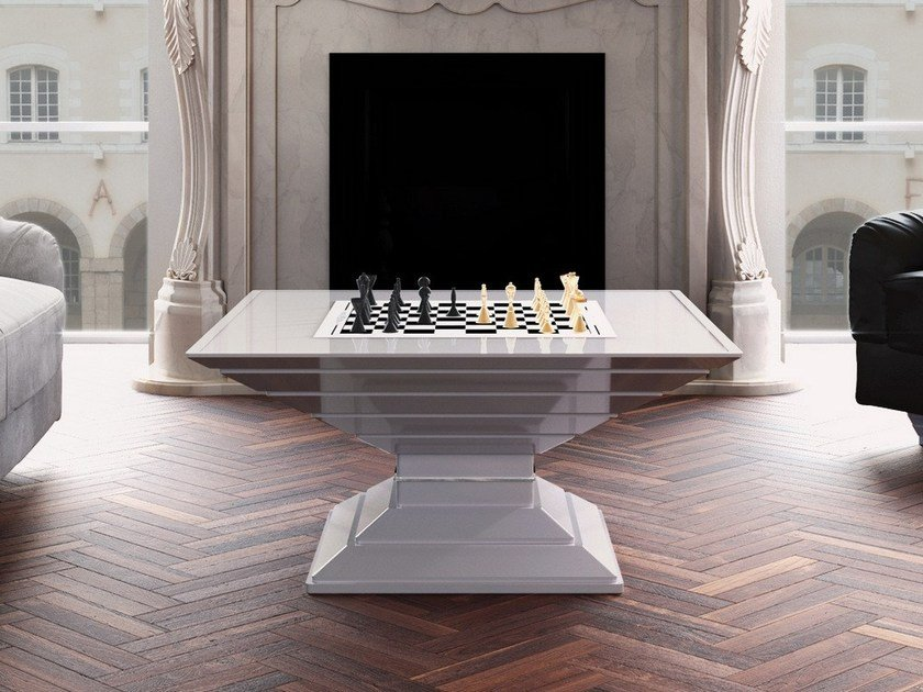 Square game table Chess table by Vismara Design