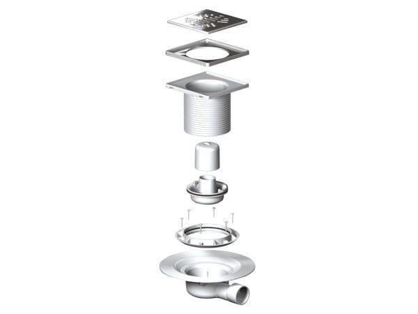 Stainless steel shower channel Chiusini sifonati - Nicoll by REDI