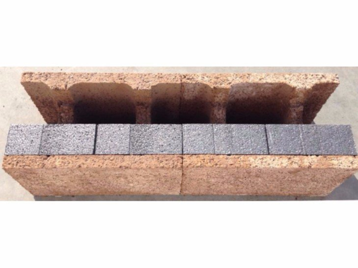 Concrete load-bearing block H block - ISOTEX