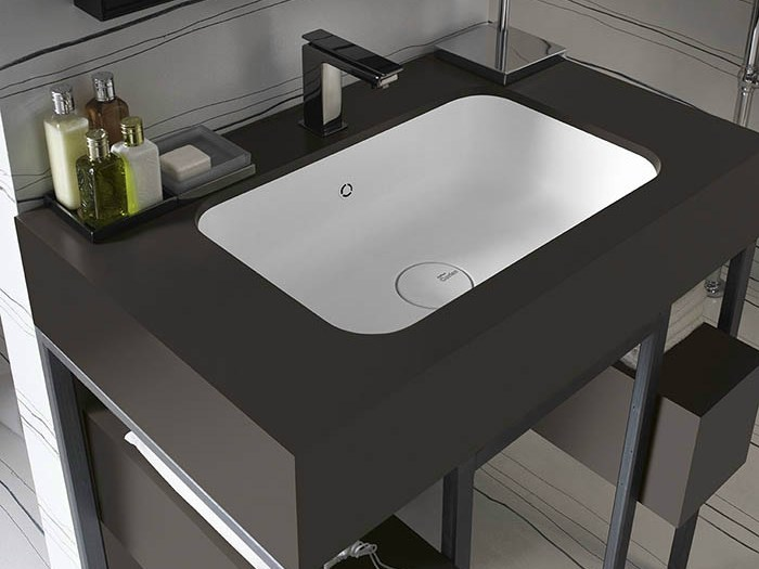 undermount corian washbasin corian serenity by dupont de nemours italiana dupont. Black Bedroom Furniture Sets. Home Design Ideas