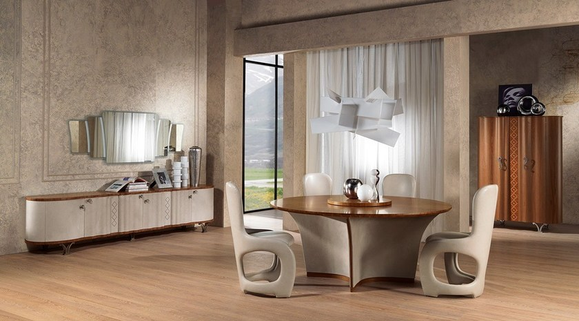 Contemporary style wooden highboard with doors Credenza Mistral - Carpanelli Contemporary