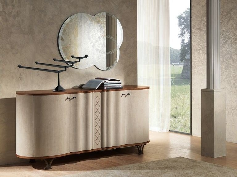 Contemporary style wooden highboard Credenza Mistral - Carpanelli Contemporary