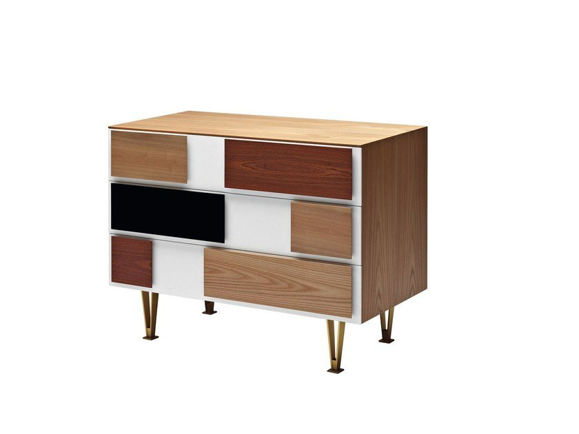 Wooden chest of drawers D.655.2 | Chest of drawers - MOLTENI & C.