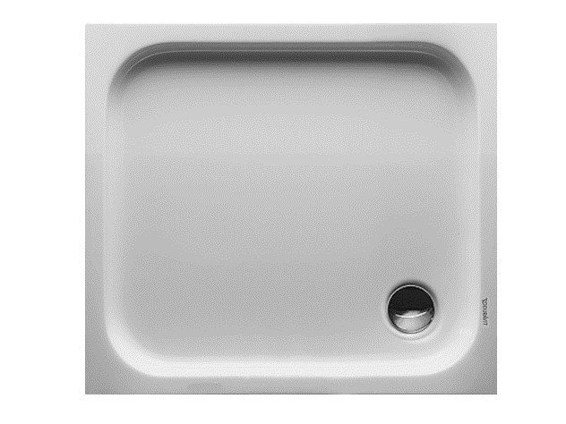 Rectangular acrylic shower tray D-CODE | 90 x 80 - DURAVIT