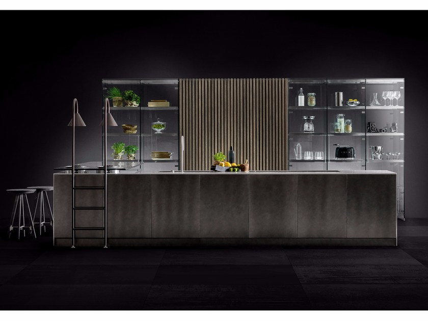 Cucina componibile con isola D90/12-D90/TP - TM Italia Cucine