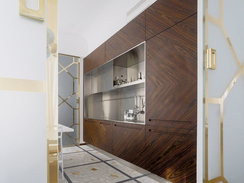 Steel and wood kitchen D90 | Rosewood kitchen by TM Italia Cucine