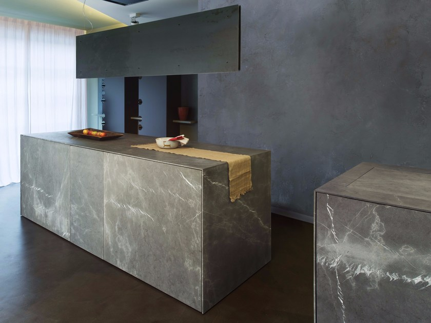 Corinthian stone freestanding kitchen D90 | Natural stone kitchen - TM Italia Cucine