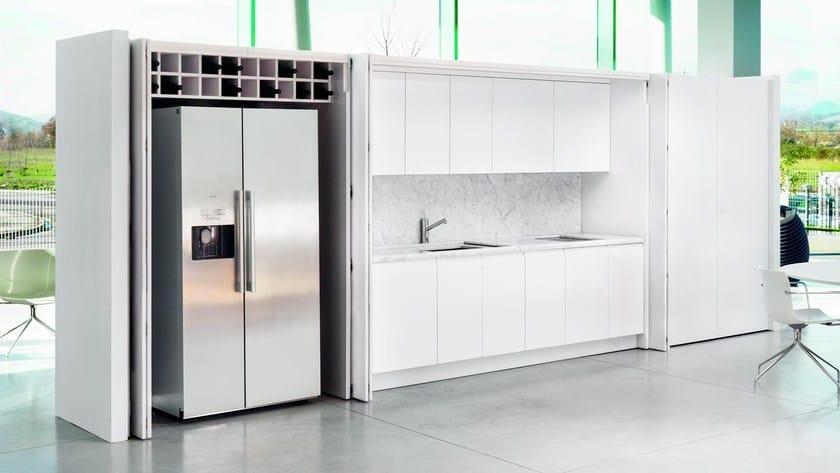 Cucina a scomparsa laccata D90 | Cucina a scomparsa - TM Italia Cucine