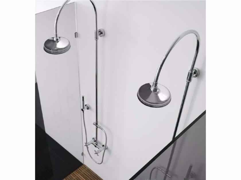 Wall-mounted shower panel with overhead shower DA-DA | Shower panel - ZAZZERI