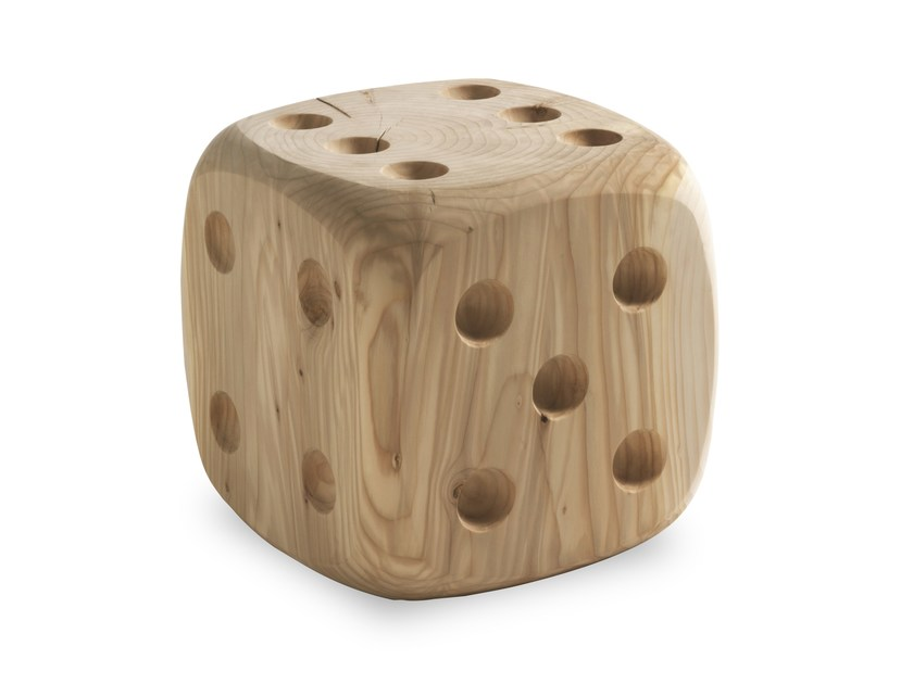 Solid wood stool DADONE SMALL & BIG - Riva 1920