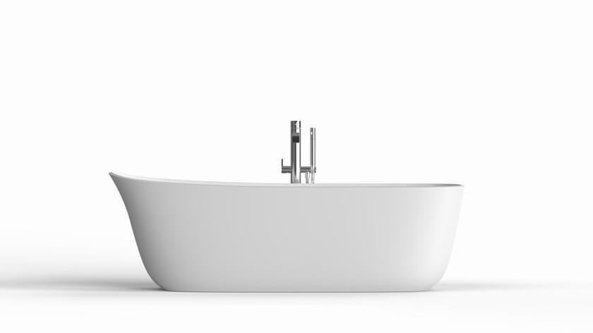 Vasca da bagno centro stanza ovale in cristalplant dafne antonio lupi design - Vasche da bagno centro stanza ...