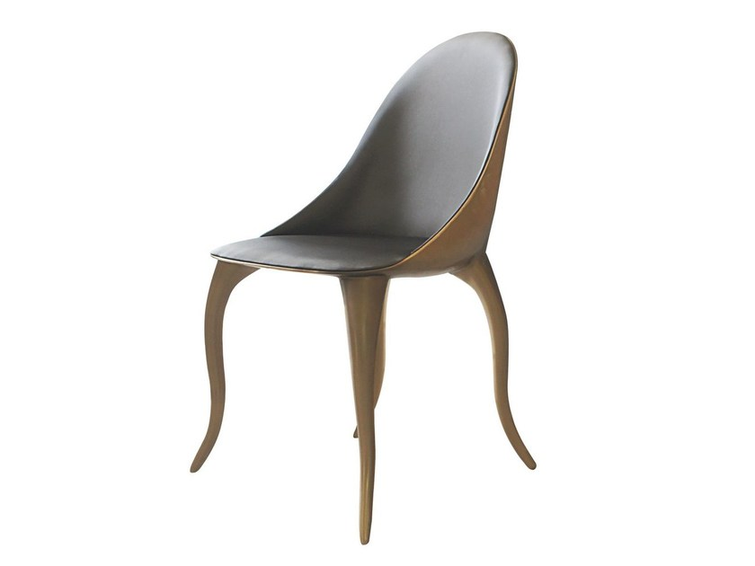 Upholstered leather chair DAISY K1300a by Karpa
