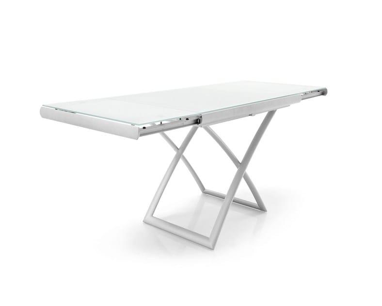 Height-adjustable rectangular coffee table DAKOTA - Calligaris