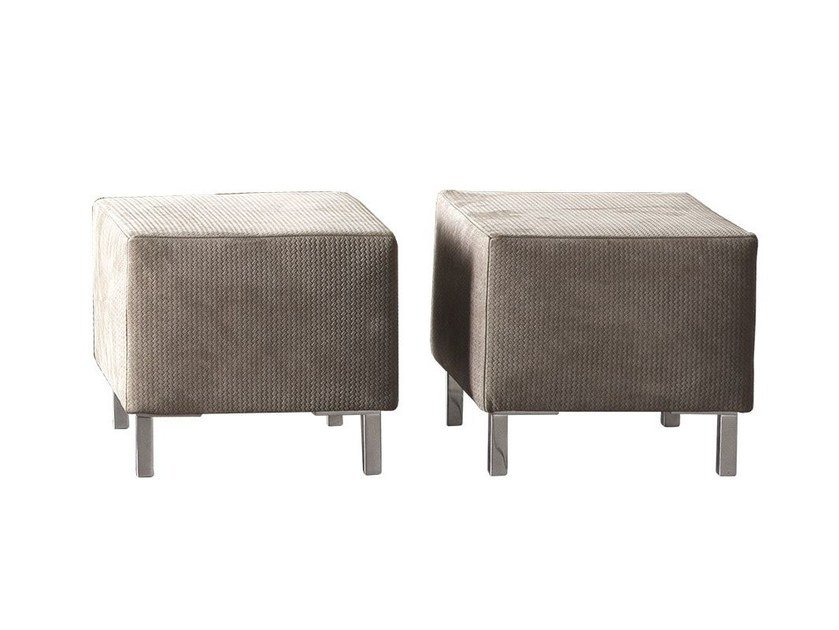 Contemporary style upholstered square fabric pouf DAKOTA by Chaarme