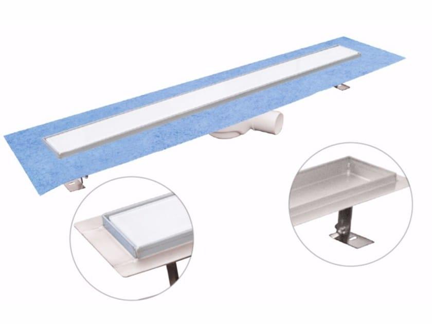 Glass and Stainless Steel shower channel DAKUA+ GLASS-B by Dakota