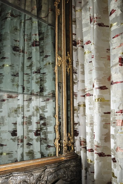 Reversible fabric for curtains DALIE PAPAVERI TULIPANI by Dedar