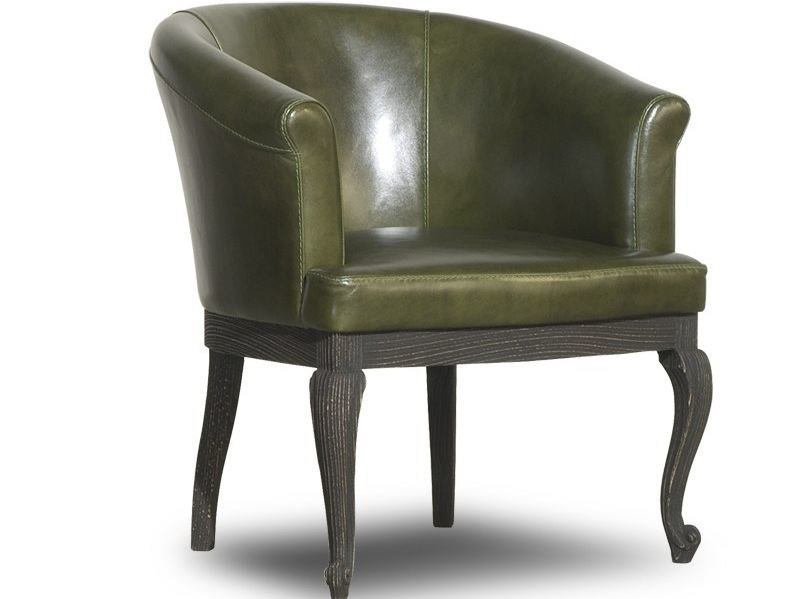 Leather easy chair with armrests DALL - BAXTER