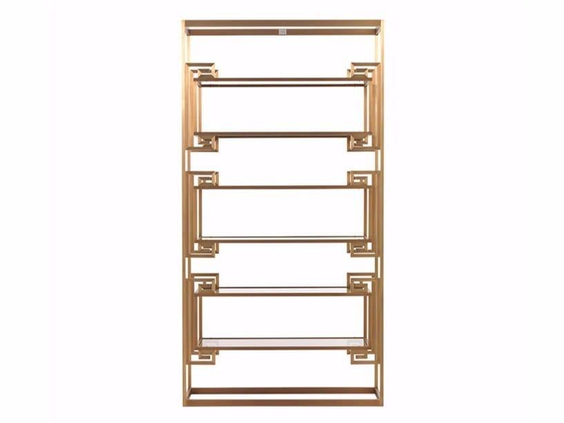Open brass bookcase DALSTON - Gianfranco Ferré Home