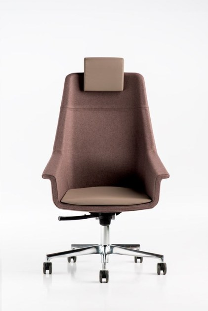 Contemporary style fabric executive chair with 5-spoke base with armrests with casters DAMA | Executive chair - D.M.