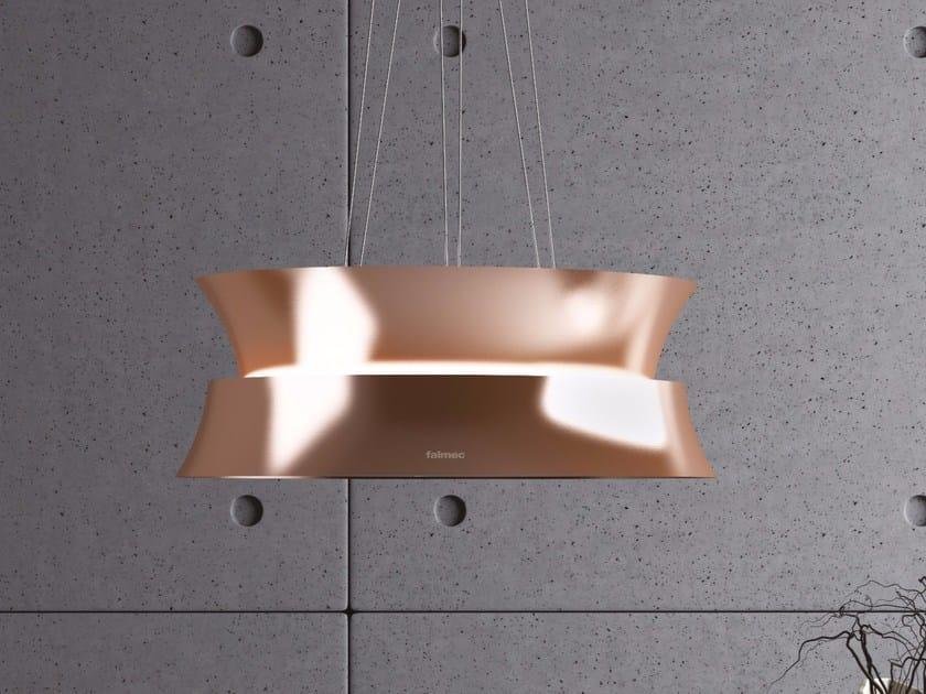 Cappa a carboni attivi ad isola con illuminazione integrata DAMA by Falmec