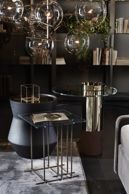 Tavolino laccato rotondo in legno massello DAMA - Gallotti&Radice