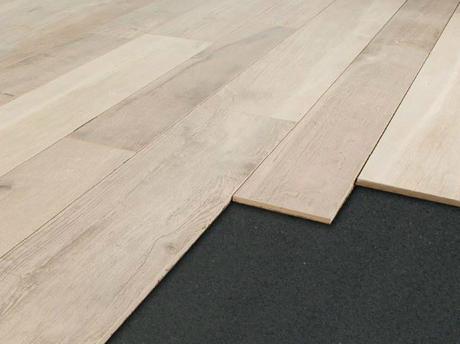 Rubber Sound insulation and sound absorbing felt in synthetic material DAMPARQUET by PROJECT FOR BUILDING