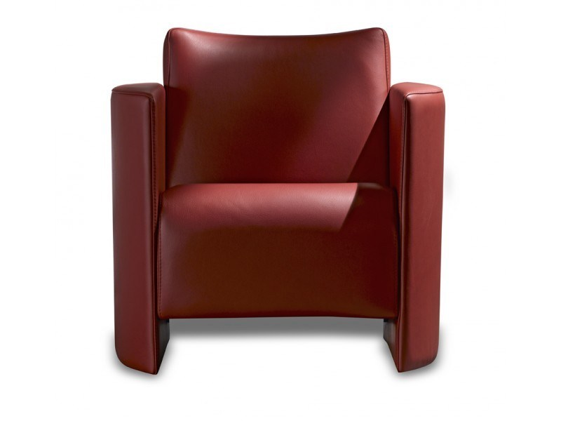 Leather armchair with armrests DANAIDE - Canapés Duvivier