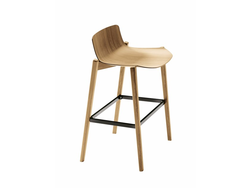 High wooden stool DANDY.SS by Colico